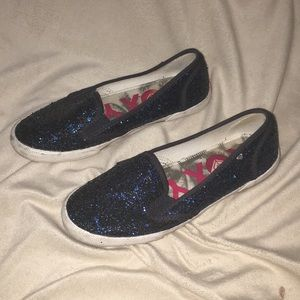 Roxy ROYAL BLUE GLITTERY SLIP ONS